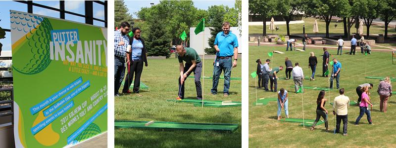 Employee miniature golf outing